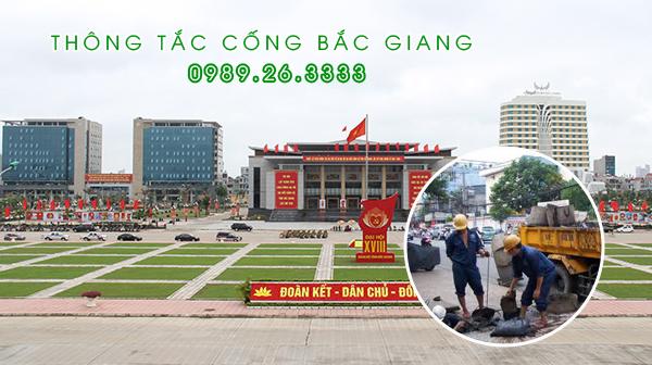 Thông tắc cống tại Bắc Giang