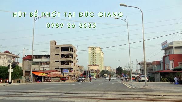 Hút bể phốt tại Đức Giang