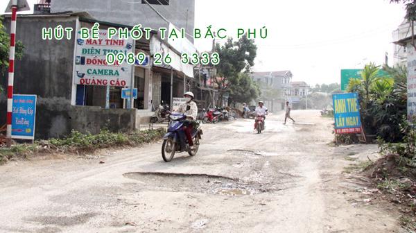Hút bể phốt xã Bắc Phú