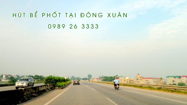 Hút bể phốt tại xã Đông Xuân