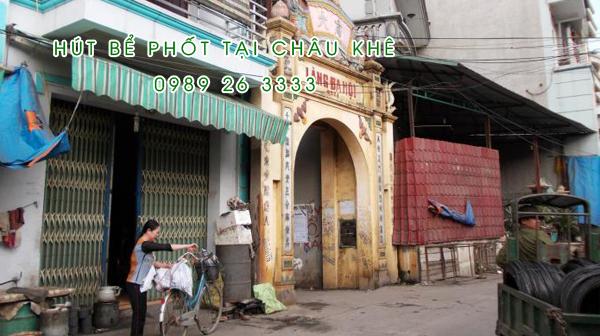 Hút bể phốt tại Châu Khê