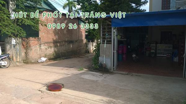 Hút bể phốt tại Tráng Việt