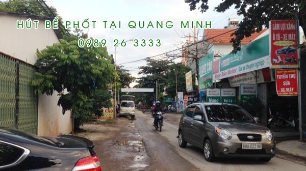 Hút bể phốt tại thị xã Quang Minh