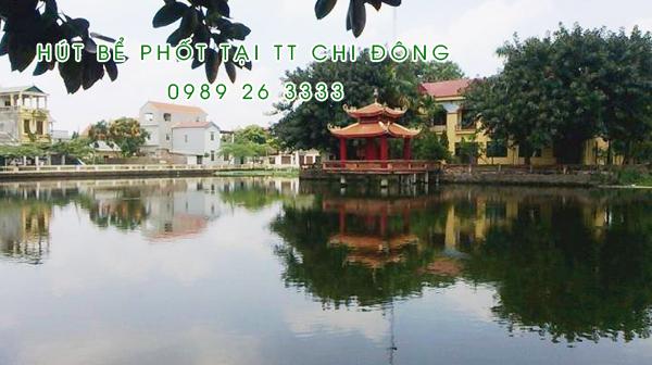 Hút bể phốt tại thị trấn Chi Đông