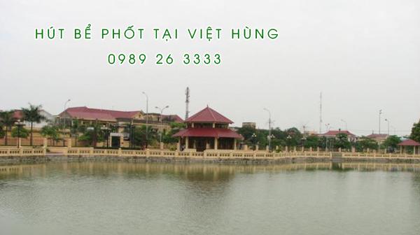 Hút bể phốt tại xã Việt Hùng