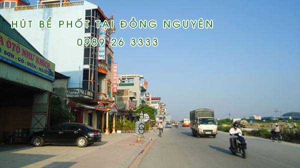 Hút bể phốt tại Đồng Nguyên