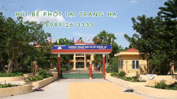 Hút bể phốt tại Trang Hạ