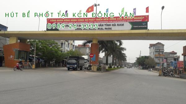 Hút bể phốt KCN Đồng Văn