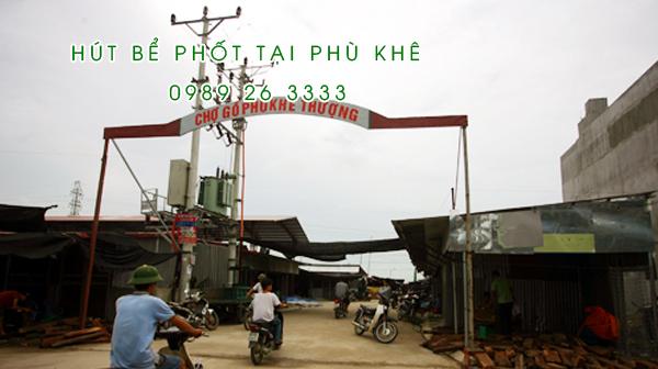 Hút bể phốt tại Phù Khê