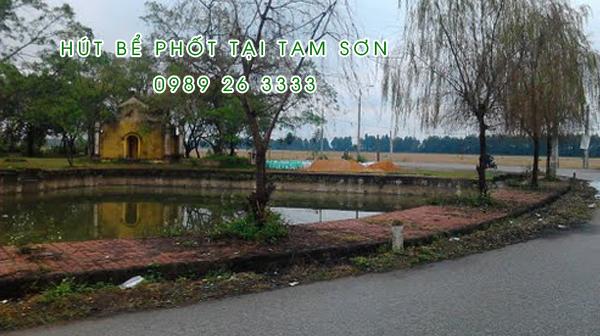 Hút bể phốt tại Tam Sơn