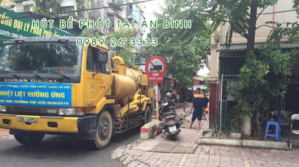 Hút bể phốt tại xã An Bình
