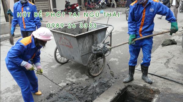 Hút bể phốt tại xã Ngũ Thái