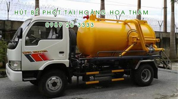Hút bể phốt tại xã Hoàng Hoa Thám