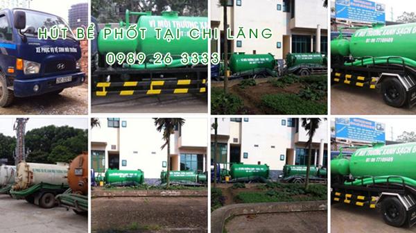 Hút bể phốt xã Chi Lăng