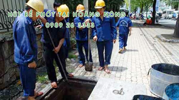 Hút bể phốt tại Xã Hoàng Nông