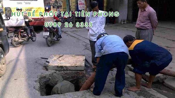 Hút bể phốt tại xã Tiền Phong