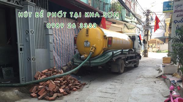 Hút bể phốt tại xã Kha Sơn giá rẻ