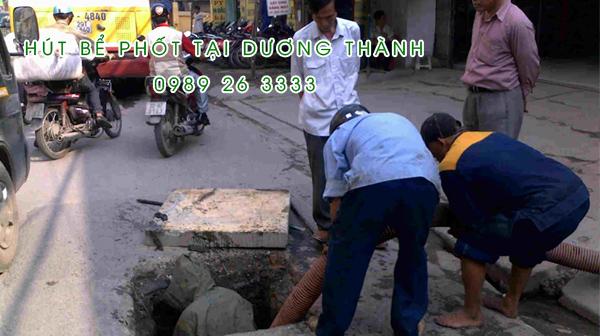 Hút bể phốt tại xã Dương Thành