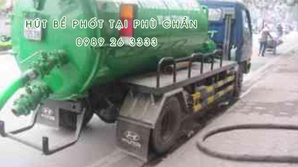 Hút bể phốt tại xã Phù Chẩn giá rẻ