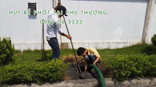 Hút bể phốt tại Xã Phú Thượng